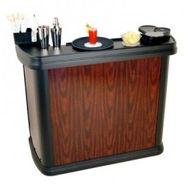 CARLISLE MIXIMISER PORTABLE BAR  CHERRY WOOD  1420W x 670D x 1230Hmm