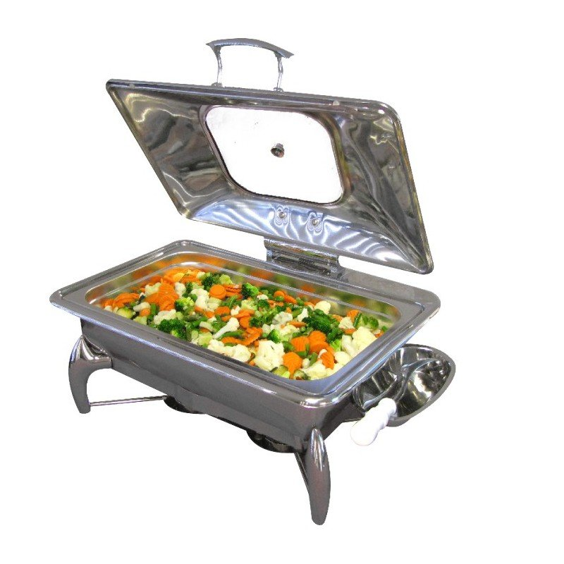CHAFING DISH INDUCTION - RECTANGULAR WITH GLASS LID - 1