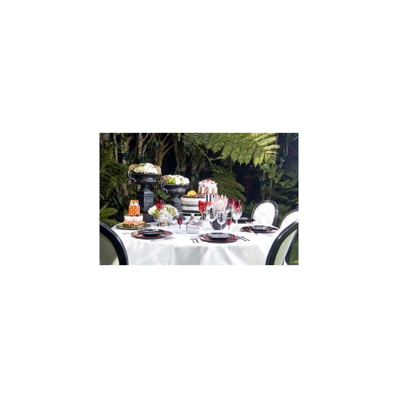 CHEFEQUIP TABLE CLOTH 2300 - WHITE - ROUND - 1