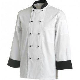 CHEFS UNIFORM JACKET CONTRAST LONG  - X - SMALL - 1