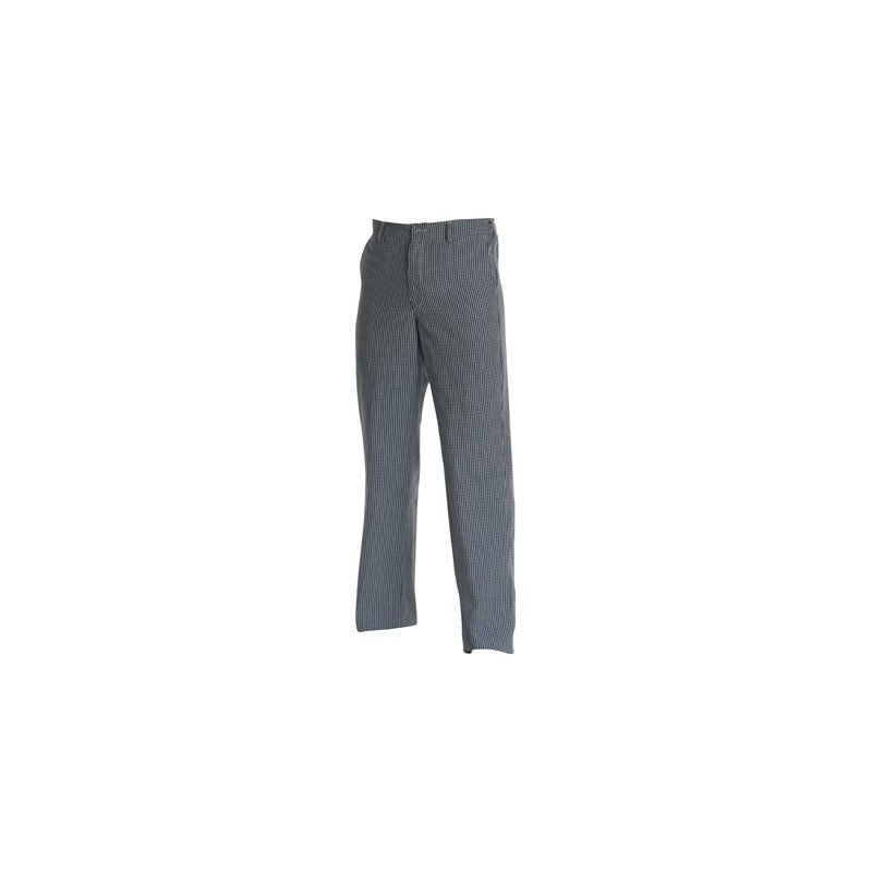 CHEFS UNIFORM - TROUSERS BLUE CHECK - X -SMALL - 1