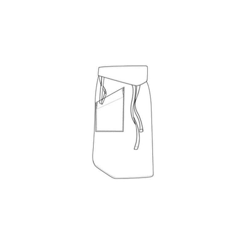 CHEFS UNIFORM - TAPPERED WHITE APRON - 1