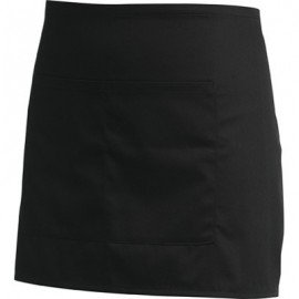 CHEFS UNIFORM - BLACK BAR APRON - 1
