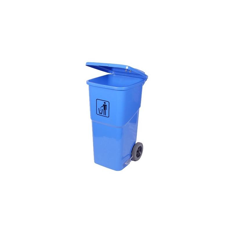 FOOT PEDAL WHEELY BIN - 120Lt - BLUE - 1