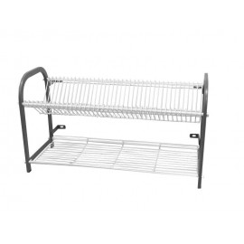 CROCKERY RACK WALL MOUNTED - 2 SHELF - 1105mm (53 PLATES) - 1