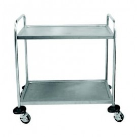 TEA TROLLEY S/STEEL H EAVY DUTY - 2 SHELF - 1