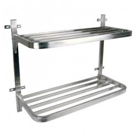 POT RACK S/STEEL - DOUBLE WALL MOUNTED - 900 x 400 x 760mm - 1