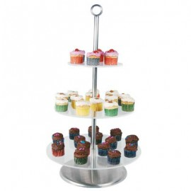 CAKE STAND CLEAR PLASTIC - 3 TIER - 1