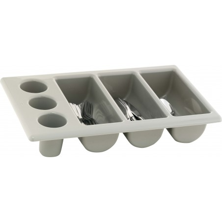 CUTLERY TRAY GREY - 3 DIVISION - 500 x 300mm - 1