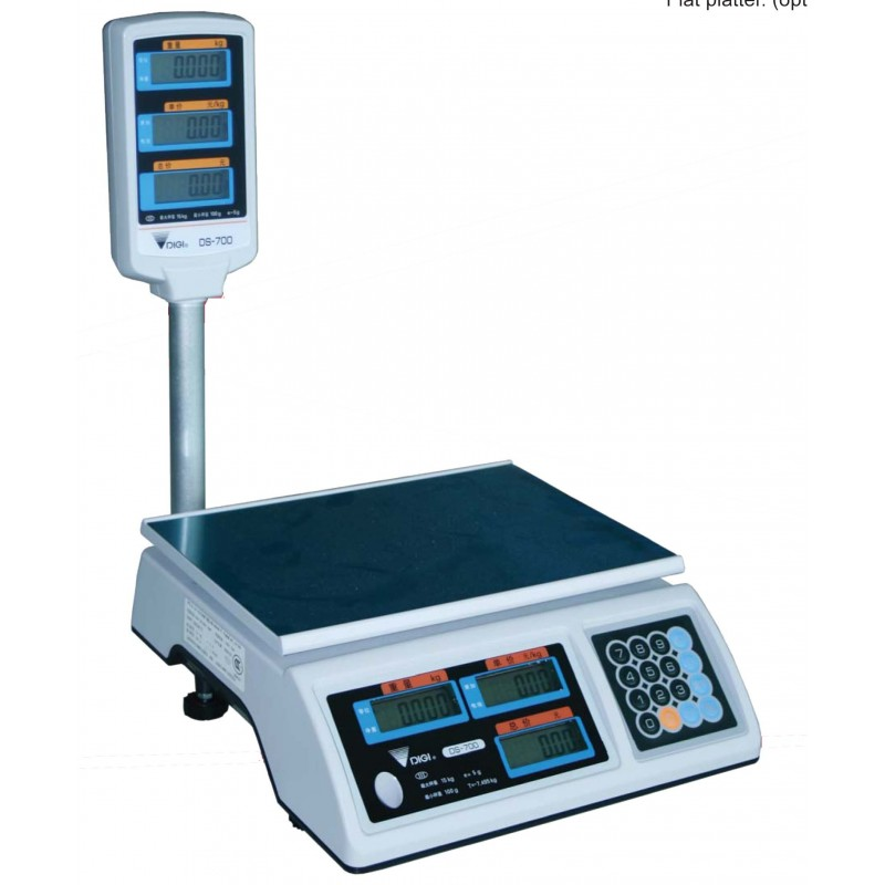 RETAIL SCALE ELECTRONIC  15kg (15 x 5g)  WITH POLE