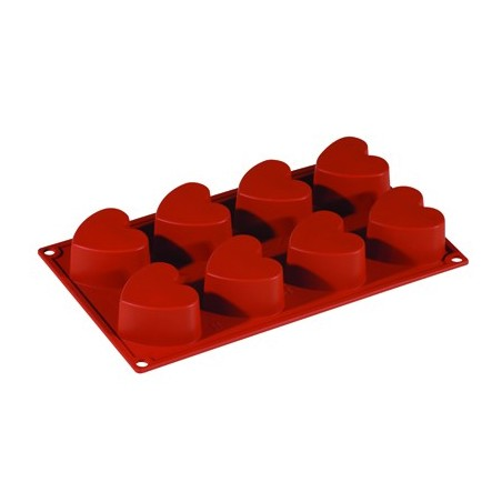 SILICONE MOULD FORMAFLEX 8 PORTION HEART - 1