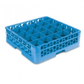 GLASS RACK - 25 COMPARTMENT (BLUE) - RACK ONLY