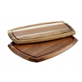 WOODEN SERVING BOARD WITH DIP BOWL (70ML BOWL)