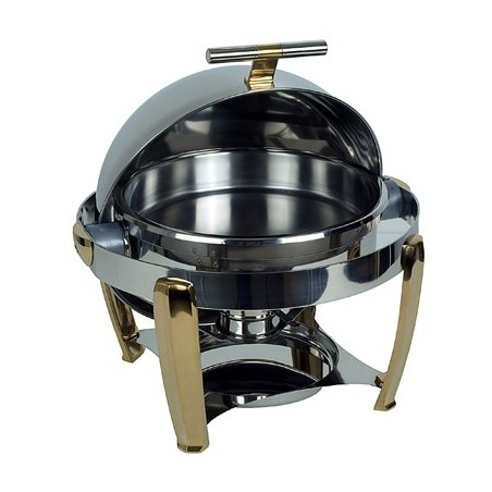 CHAFING DISH ROUND - ROLLTOP - DELUXE - 1