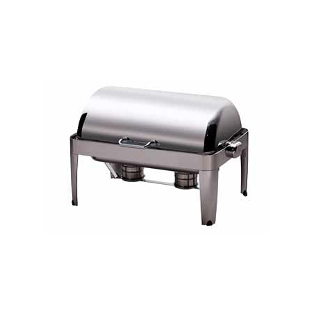 CHAFING DISH IBIS RECTANGULAR ROLL TOP - 18/10 S/STEEL - 1