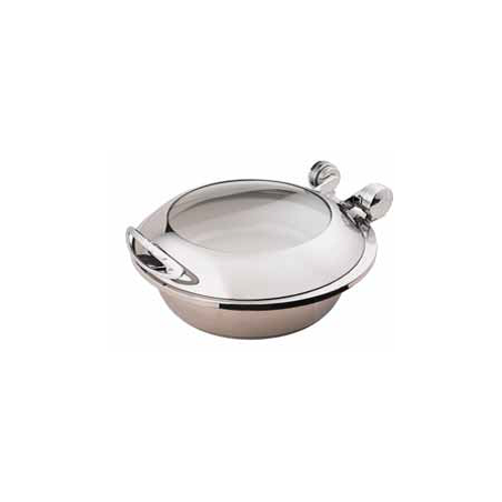 CHAFER INDUCTION ROUND SMART W WITH GLASS LID - 18/10 S/STEEL - 1