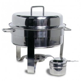 CHAFING DISH STAINLESS STEEL POLISHED (ROUND)