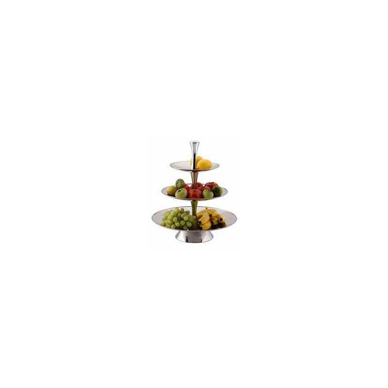 FRUIT STAND S/STEEL - 3 TIER 18/10 S/STEEL R  - 1