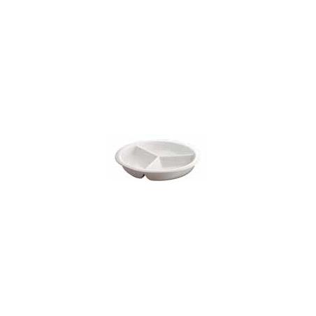 INSERT ROUND PORCELAIN - 3 DIV - 1