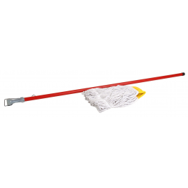 MOPHOLDER - PVC/WOOD HANDLE ONLY - YELLOW - 1550mm - 1