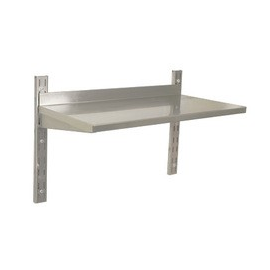 STAINLESS STEEL WALL SHELVING - DOUBLE - 1200 x 300mm - 1