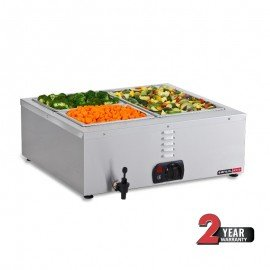 BAIN MARIE ANVIL TABLE TOP - 2 DIVISION - 1