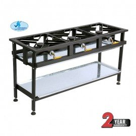 BOILING TABLE GAS - COMMERCIAL - 3 BURNER STRAIGHT - 1