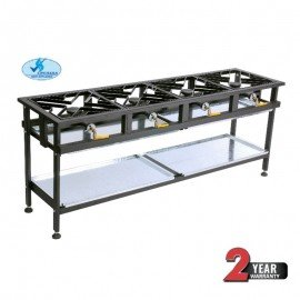 BOILING TABLE GAS - COMMERCIAL - 4 BURNER STRAIGHT - 1