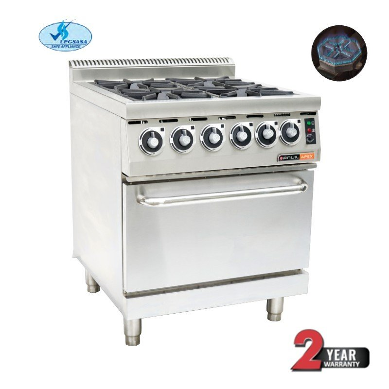 GAS STOVE WITH ELECTRIC OVEN ANVIL - 4 BURNER - 1