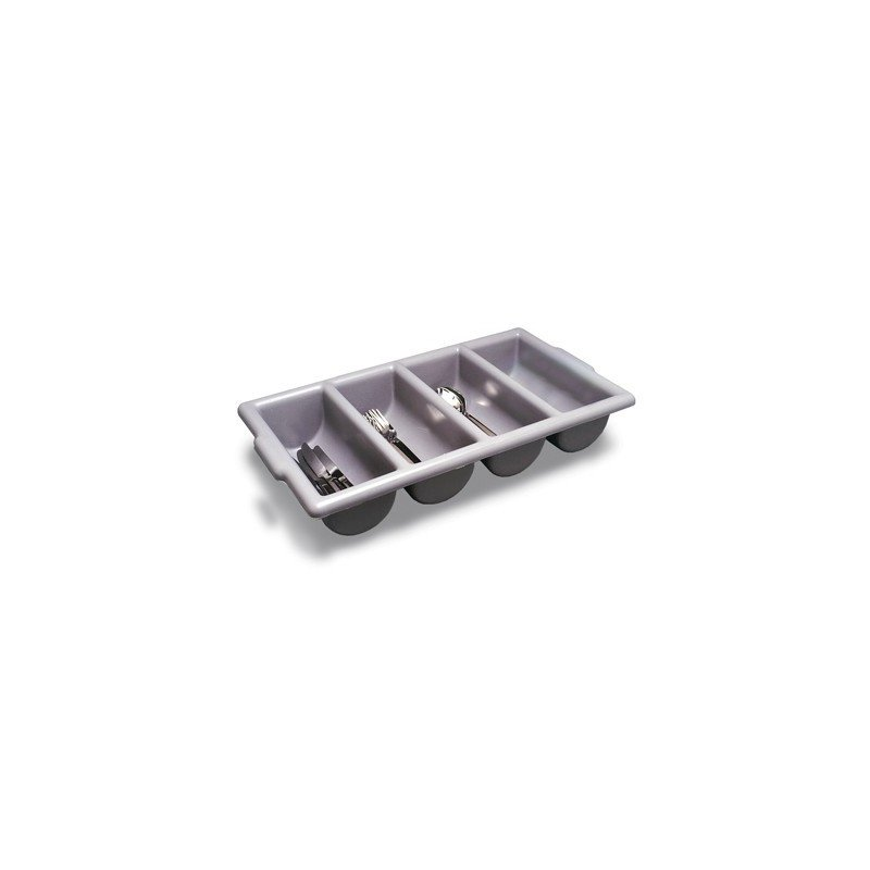 CUTLERY TRAY  GREY  4 DIVISION  500 x 300 x 100MM