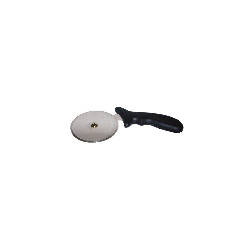 PIZZA CUTTER - BLACK PLASTIC HANDLE - 100mm - 1