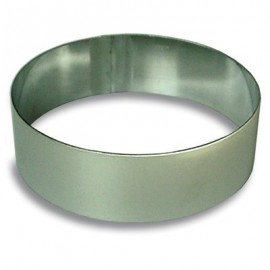 CAKE RING ROUND S/STEEL - 200 x 58mm - 1