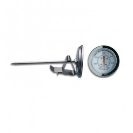 THERMOMETER FAT FRYING STEEL STEM  130mm (50?C TO +200?C)