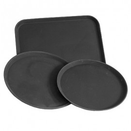 TRAY ROUND UTILITY - BLACK - 400mm - 1